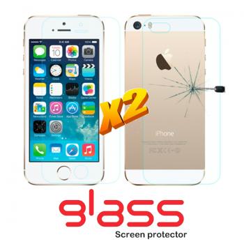 Pellicole vetro temperato iPhone 5 Front + Back