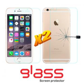 Pellicole vetro temperato iPhone 6 Plus Front + Back