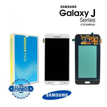 Display Samsung Galaxy J7 2016 J710F bianco Service Pack